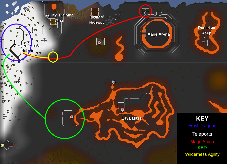 how to get to the wilderness agility course pk honor